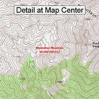 USGS Topographic Quadrangle Map   Manhattan Mountain, Nevada (Folded