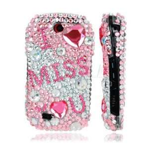 Ecell   PINK I MISS YOU 3D CRYSTAL BLING CASE FOR SAMSUNG