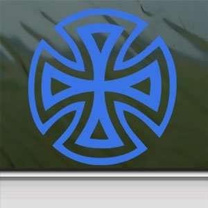 Iron Cross Sign Blue Decal Biker Car Truck Window Blue Sticker