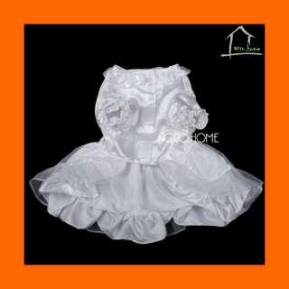 WEDDING DRESS with VEIL Costume Dog Cat Pet Clothes NEW