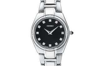 SUJE25 Seiko Ladies Diamond Watch on Stainless Steel Bracelet
