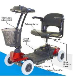 CTM HS 118 4 Wheel Electric Mobility Power Scooter Cart