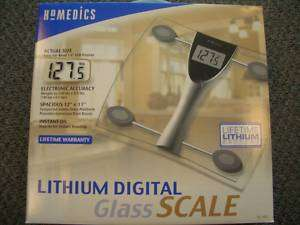 HoMedics Lithium Digital Bathroom Scale Model SC 403