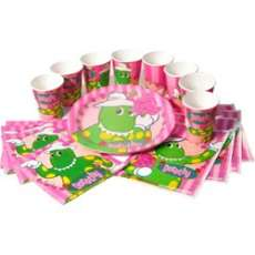 Dorothy the Dinosaur Party Pack   Pink Frosting Party Supplies