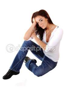 Sad girl sitting on floor.  Stock Photo © Horst Petzold #3391302