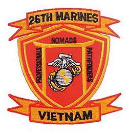 26th marines commemorative vietnam patch item 26mar 3 twenty sixth