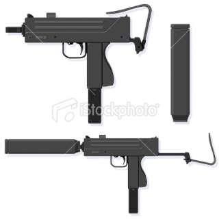 Submachine Gun Royalty Free Stock Vector Art Illustration