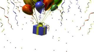 birthday balloons with confetti   902050  Shutterstock Footage