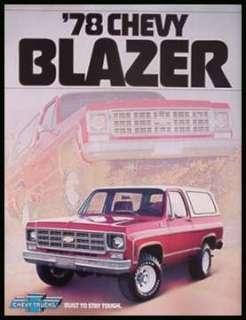 1978 Chevrolet Chevy Blazer 4WD 2WD Truck Brochure