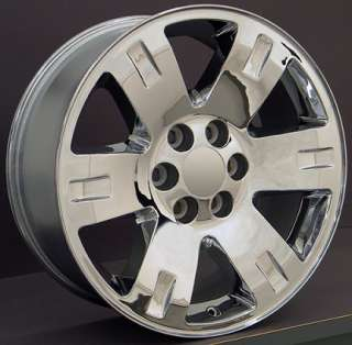 20 x 8 Chrome Yukon Wheels Goodyear 275 55 Tires Rims Fit GMC