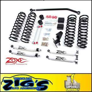 Zone 4 Suspension Lift Kit for 2007 2012 JK Wrangler 4 Door