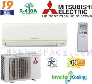 Mitsubishi MR. SLIM Ductless Mini Split Air Conditioner 19.2 SEER COOL
