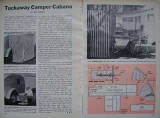 How to Build TEARDROP CAMPER CABANA Dressing Room / Awning 1966 DIY