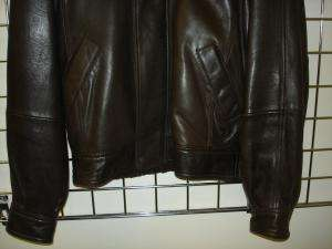ANDREW MARC brown leather jacket /coat S MUST BUY