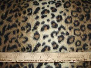 Brown & Black LEOPARD Animal Skin Perfect for tied blankets BTY