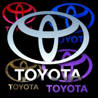 Toyota Logo w Text 5 Pair Auto Window Stickers Decals