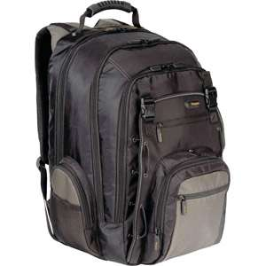 Targus 17 City Gear Laptop Backpack, Black/Gray with