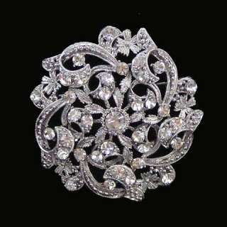 Clear Bridal Swarovski Crystal Brooch Wholesale Lot 6