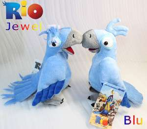 2X Rio the Movie Character Toy Blu & Jewel Plush Macaw Parrot Stuffed