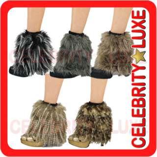 New Fur Furry Fluffy Gothic Rave Cyber Punk Leg Warmers