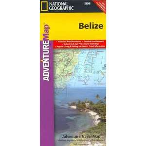 Belize, National Geographic Maps Travel & Nature