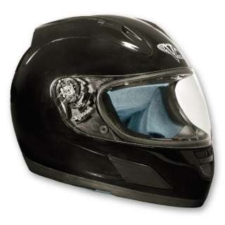 Vega Altura Full Face Motorcycle Street Bike Helmet Flat Black and