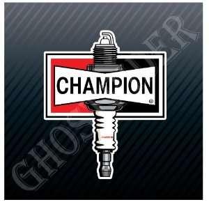 Champion Spark Plugs Racing Hot Rod Trucks Sticker Decal