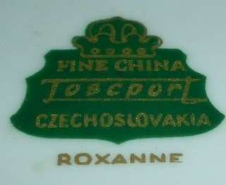 ROXANNE TOSCPORT CHINA Czechoslovakia DESSERT PLATES