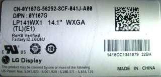 OEM Dell Latitude D631 14.1 WXGA Matte LCD Laptop Screen LP141WX1