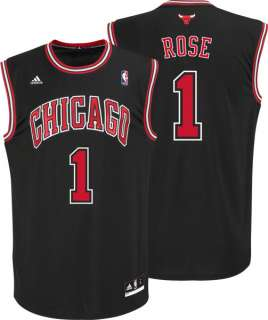 Derrick Rose Jersey adidas Revolution 30 Black Replica #1 Chicago