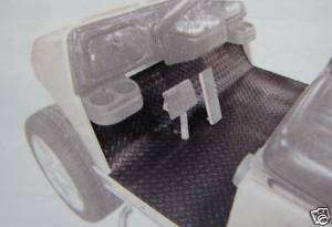 EZGO Golf Cart Diamond Plate Black or Gray Floor Mat