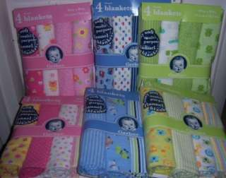 Gerber Flannel Receiving Blankets, Baby Shower, Diaper Cakes