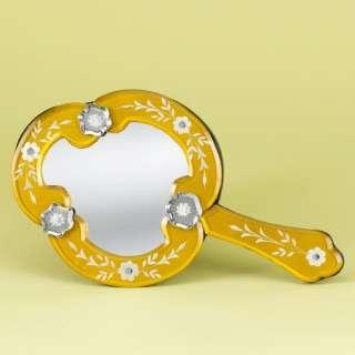 Venetian Gems Trinidad Hand Held Venetian Table Mirror Decor