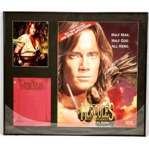 Black Metal Framed   Hercules  The Legendary Lourneys   Kevin Sorbo