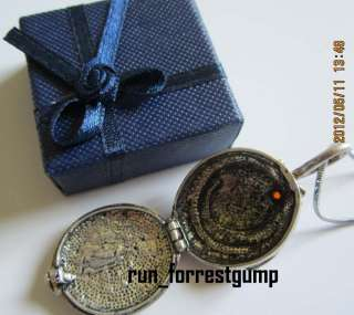 Vintage Vampire Diaries Elena Vervain Pendant Necklace Silver RED