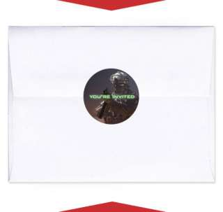 24 MODERN WARFARE Birthday Party INVITE ENVELOPE SEALS