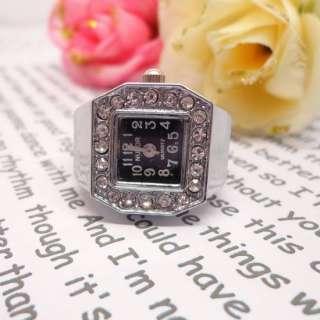 Fashion Steel Quartz Finger Stretch Ring Watch Multi Style FREE SHIP