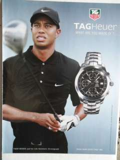 2005 Print Ad Tag Heuer Watches Tiger Woods Golf Golfer