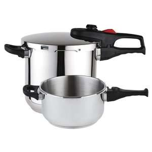 Plus Stainless Steel 3 Piece Pressure Cooker Set