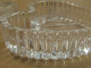 Vintage Wedgwood German Lead Crystal Heart Shaped Trinket Box *