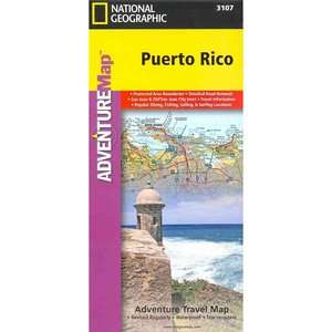 Puerto Rico, National Geographic Maps Travel & Nature