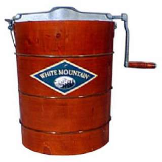 Quart Wooden Bucket Manual Hand Crank Ice Cream Maker