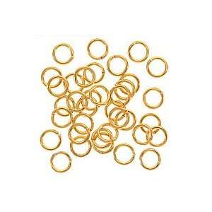 6mm Open Jump Rings 22K Gold Plated (100) Arts, Crafts