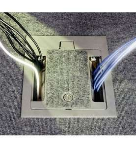 Brass Electrical Floor Box Cover Plate Walker Dual Com