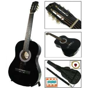 Guitar w/ Carrying Case & Accessories & Harmonica Musical Instruments