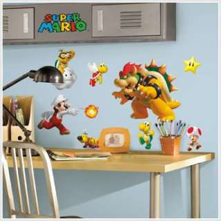 New NINTENDO SUPER MARIO WALL DECALS Kids Room Decorations Stickers