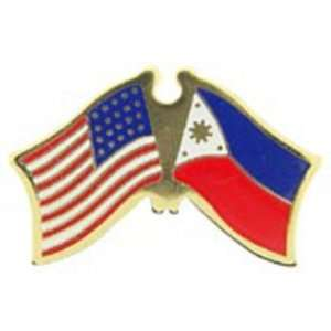 American & Philippines Flags Pin 1 Arts, Crafts & Sewing