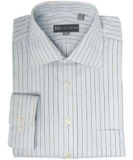 Hickey Freeman blue fancy pencil stripe dress shirt   up to 70