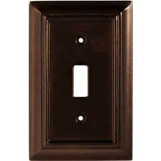 Wood Architectural Single Switch Wall Plate, Espresso Electrical