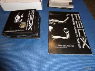 P90X DVD Set   Complete Extreme Home Fitness DVDs w/Fitness Guide